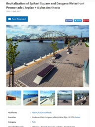 Revitalization of Spikeri Square and Daugava Waterfront Promenade
