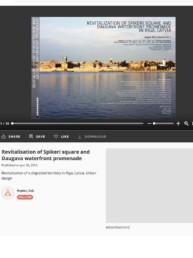 Revitalisation of Spikeri square and Daugava waterfront promenade