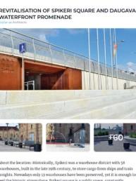 Revitalisation of Spikeri Square and Daugava waterfront promenade Arplan Archello